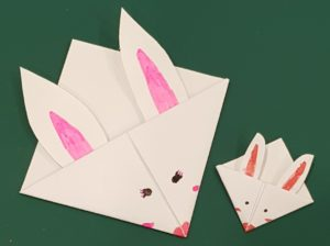 Origami rabbit corner bookmarks