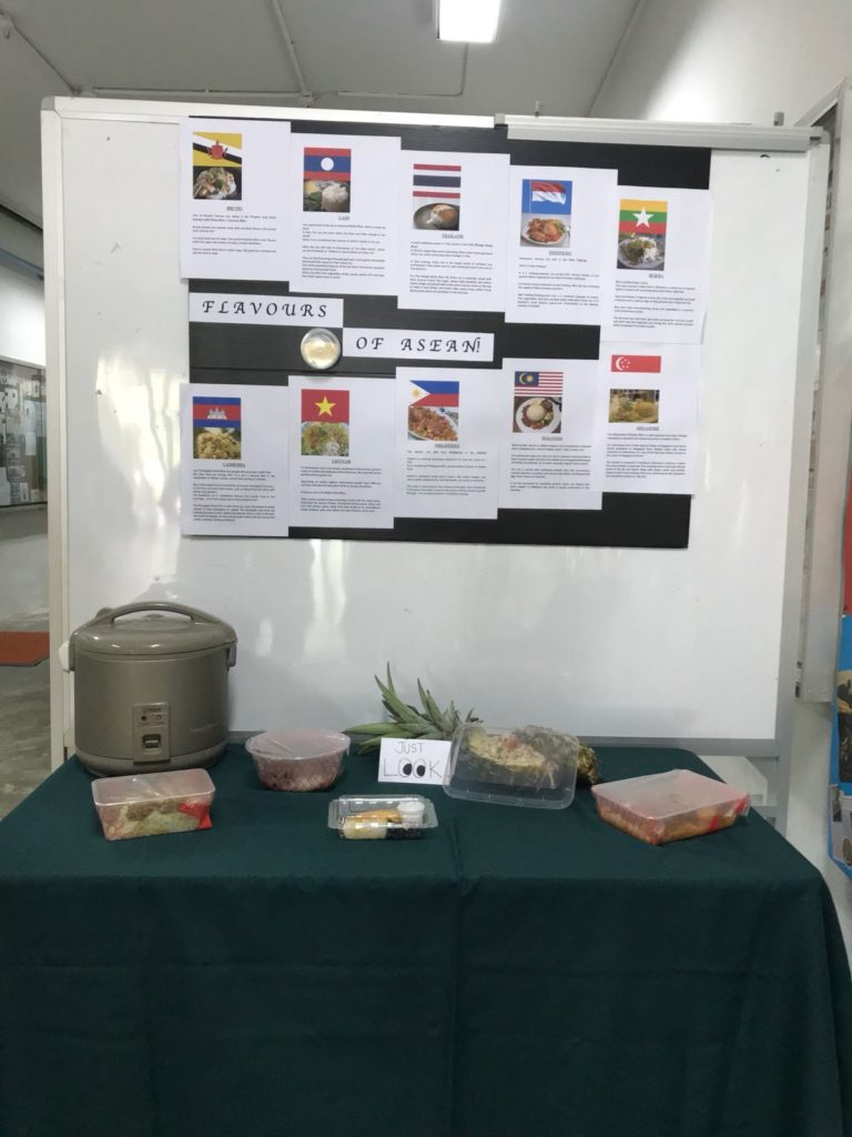 Display of various rice dishes
